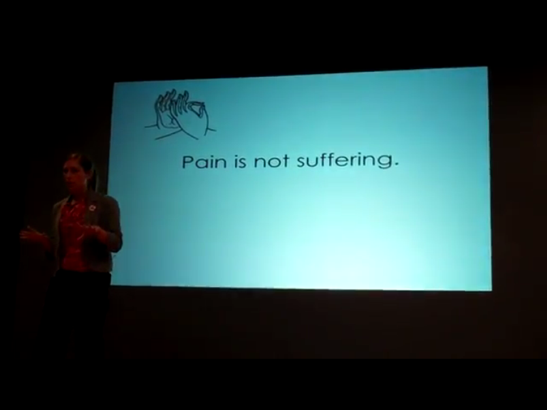 19Pain is not suffering